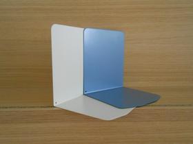 Buchstützen aus Metall, H 14 cm, taubenblau
