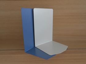Buchstützen aus Metall, H 24 cm, taubenblau