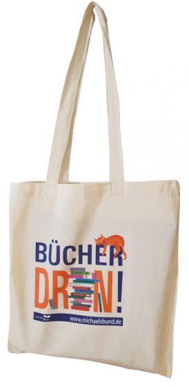 """Baumwolltasche """"Bücher drin!"""" (VPE 5 St.)"""