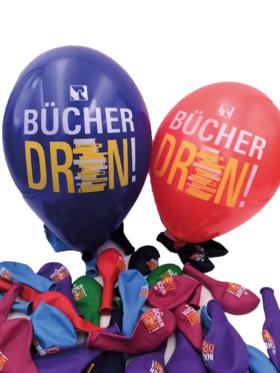 "Luftballon ""Bücher drin!"" (VPE 50 St.), bunt sortiert"