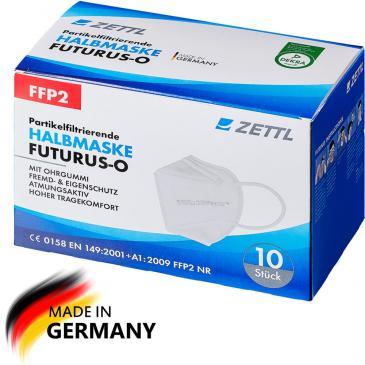 Zettl Futurus FFP2 Maske (VPE 10 Stk.) mit Ohrengummis