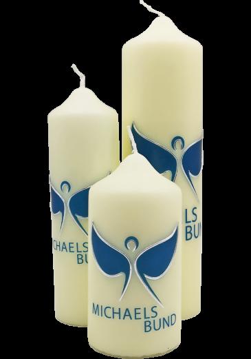 Kerze Michaelsbund Größe XL (inkl. Geschenkkarton mit Sichtfenster)